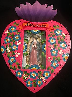 Our Lady Of Guadalupe/ Virgen De Guadalupe Nicho Shadow Box Mexico- Milagros
