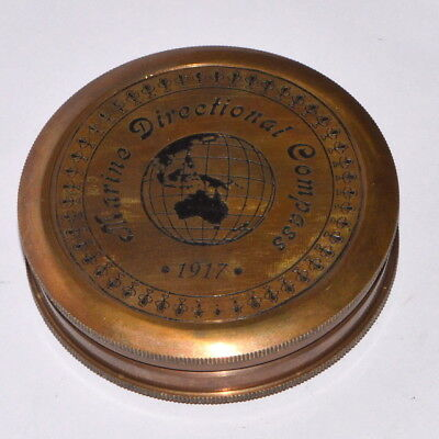 Marian Directional Poem Engraved London Compass Old Marine Antique gift item