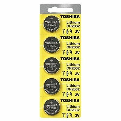 5 x New Original Toshiba CR2032 CR 2032 3V LITHIUM BATTERY BR2032 DL2032 Remote