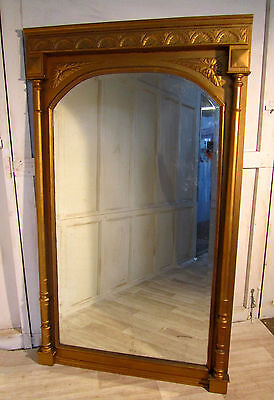 A Very Large French Carved Gold Pier Mirror
