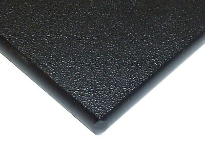 "Black Marine Board HDPE Polyethylene Plastic Sheet 1/4"" - 0.250"" Thick Textured"