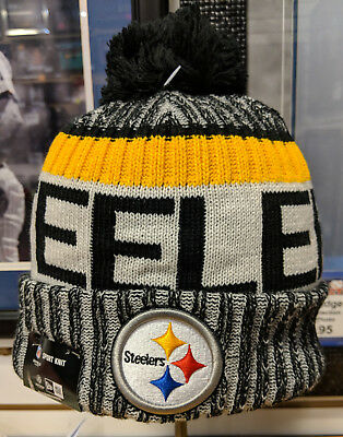 bc015bbb37c760 ... purchase pittsburgh steelers new era mens 2017 sideline official sport knit  hat d7334 4fce4