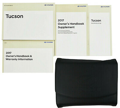 Brand New 2017 17 Hyundai Tucson Complete Owners Manual Set Books Leather Case