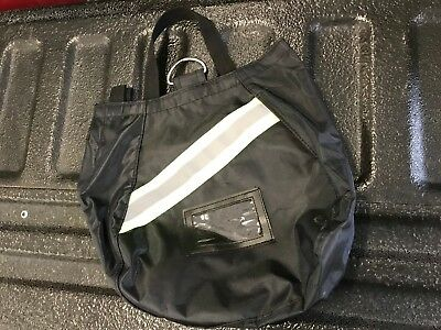 SCBA Mask Bag, Two Inside Pockets, 2018 Deluxe, Black, Firefighter, ISI, Fire