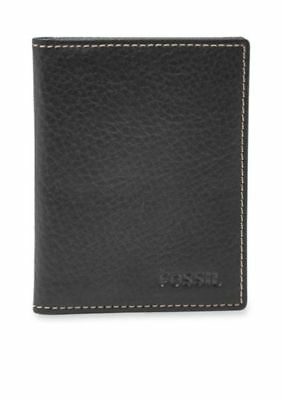 4116f70ee59035 Fossil Men's Lincoln Leather Card Case Bifold New With Tin Black Ml3688001