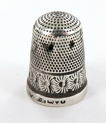 .c1900 ENGLISH HALLMARKED STERLING SILVER THIMBLE. CHARLES HORNER