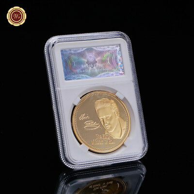 WR Gold Coin 24k Gold Metal Coin Elvis Presley 1935-1977 Coin