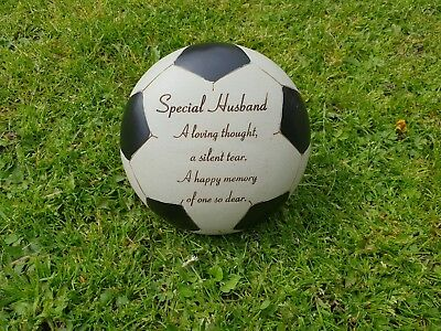 Husband Grave Memorial Ornament Remembrance Black Football  Plaque Husband
