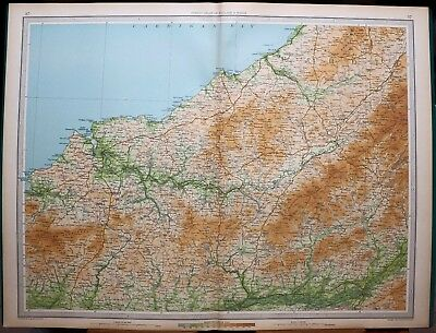 1939 Survey Map England & Wales Cardigan Mynydd Prescelly New Quay