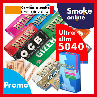 CARTINE RIZLA OCB ENJOY GIZEH BRAVO REX  SMOKING e 5040 FILTRI RIZLA ULTRASLIM