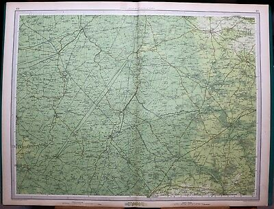 1939 Survey Map England & Wales Ely Wisbech Thetford Cambridge March