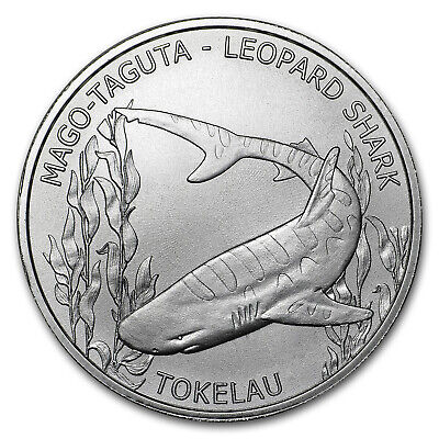 2018 Tokelau 1 oz Silver $5 Leopard Shark - SKU#154494