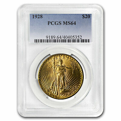 1928 $20 Saint-Gaudens Gold Double Eagle MS-64 PCGS - SKU#15778