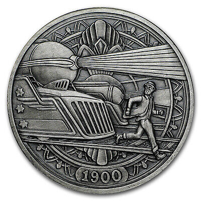 1 oz Silver Antique Hobo Nickel (Trains) - SKU#153483