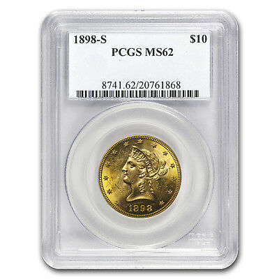 1898-S $10 Liberty Gold Eagle MS-62 PCGS - SKU#154597