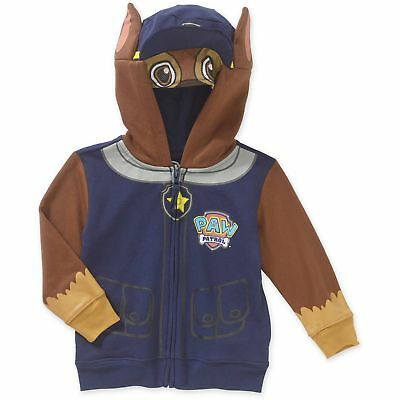 Paw Patrol Toddler Boys' Chase Costume Zip Hoodie Jacket Blue 2T