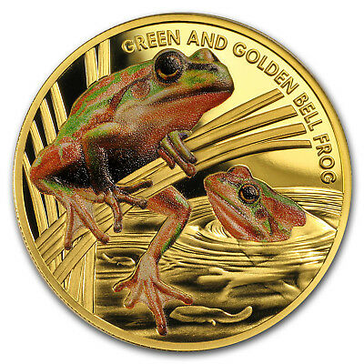 2017 Niue 1 oz Proof Gold Bell Frog Endangered and Extinct - SKU#159561