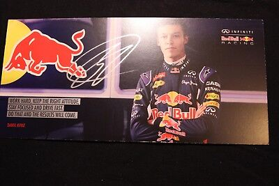 Card Red Bull Racing RB11 2015 #26 Daniil Kvyat (RUS) Signed