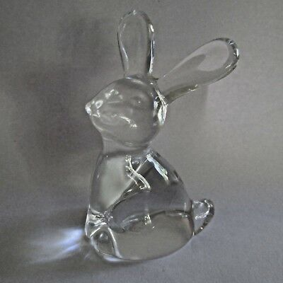 A Small Glass Rabbit Unmarked Mid Century Kitsch