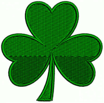 IRISH GREEN CLOVER Embroidered PATCH SHAMROCK Iron-on FREE SHIPPING USA