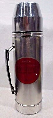 Vintage UNO-VAC Unbreakable SS Vacuum Bottle One Qt.Thermos