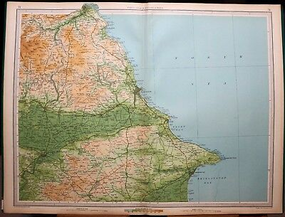1939 Survey Map England & Wales Scarborough Whitby Hunmanby New Malton Pickering