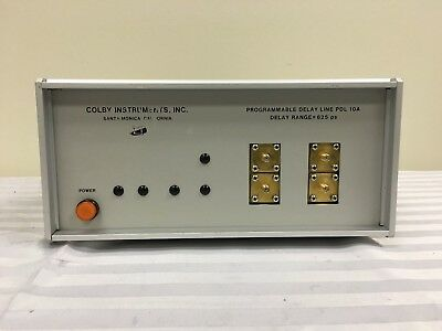 COLBY INSTRUMENTS PDL 10A Programmable Delay Line Delay Range: 625ps 120V #0325