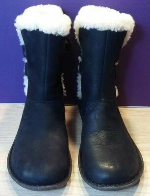 0796e51ae2a NEW UGG 1007760 Akadia Black Lace Up Boots Leather, Shearling, Sz 5 Women's