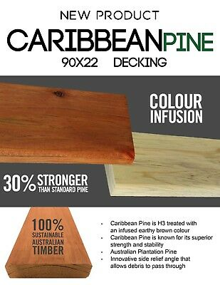 Caribbean Pine 90x22 Treated Pine Decking H3 Treated in Set Lengths