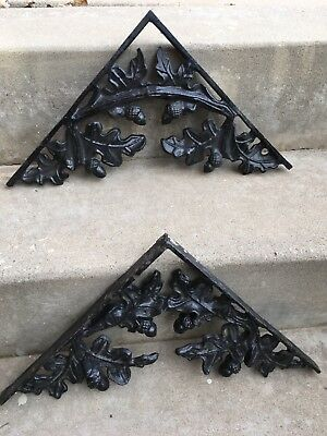 "13"" Antique Cast Iron Corbels Pair Architectural Salvage"