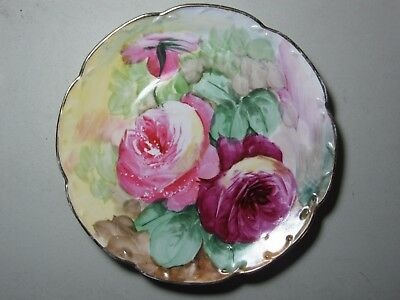 "10"" collector plate-hand painted- Limoge France"