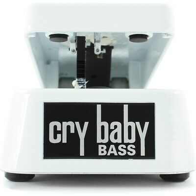 New Dunlop 105Q Cry Baby Bass Guitar Wah Effects Pedal, White