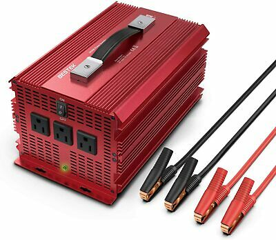 2000W/4600W Power Inverter 12V DC to 110V AC Adapter Charger Supply by BESTEK