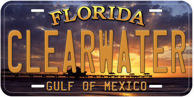 Clearwater Florida Aluminum Novelty Car Auto License Plate