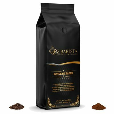 100% Arabica Freshly Roasted Coffee Medium Roast Fresh Beans or Ground 1Kg Bag S