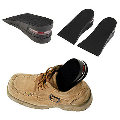 2 Layer Air Up Height Increase Elevator Shoes Insole Lift 2 inches Taller Hot BO