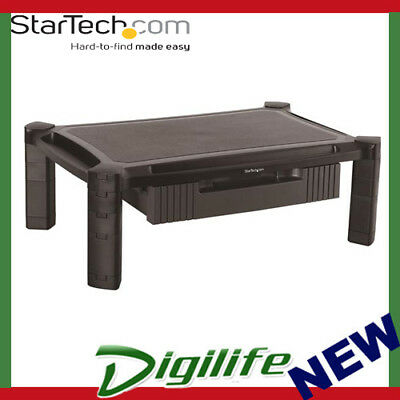 STARTECH Monitor Riser with Drawer - Height Adjustable - Large MONSTADJDL