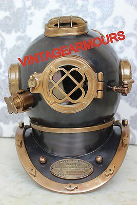 Antique~Diving Diver's_ Helmet~U.S Navy Mark V Full Size 18 Inch_Maritime Gifts