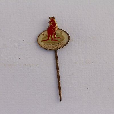Rare Vintage Rugby League Queensland Kangaroo Pin Badge