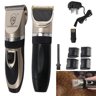 Pet Shave Clippers Hair Low Noise Cordles Electric Dog Cat Grooming Trimming Kit
