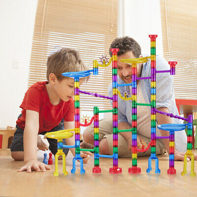 127pcs Toys Kid  Marble Race Game Marble Run Play Set Developing Funny
