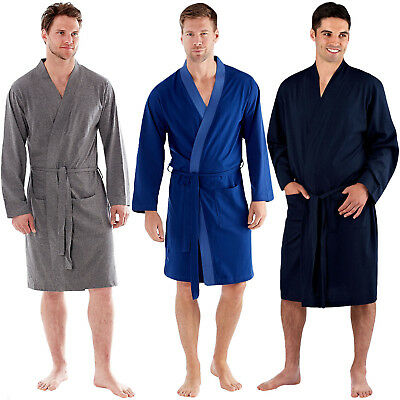 bab87c9d6a7 Harvey James Mens Cotton Lightweight Lounge Wrap Dressing Gown Robe  Nightwear
