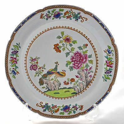 Antique Spode Stone China Printed & Painted *peacock* Plate No. 2118 C.1813-1822