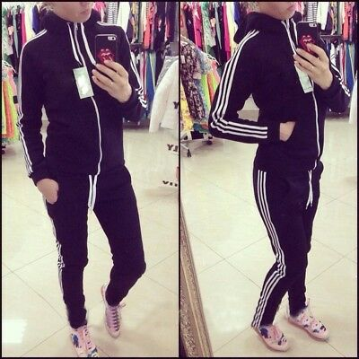 US Women Hoodies Sports Tops Pants Tracksuit Sweatshirt Sweat Suit Jogging Set