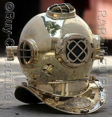Diving Diver Helmet US Navy Vintage Scuba Deep Sea Full Size Diving Helmet