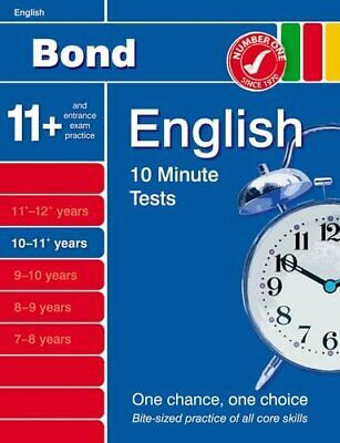 Bond 10 Minute Tests 10 - 11 years English by Lindsay, Sarah Pamphlet Book The