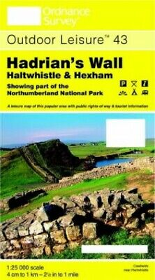 Hadrian's Wall, Haltwhistle and Hexham (... by Ordnance Survey Sheet map, folded