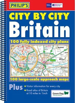 City by City Britain Atlas (Philip's Road Atlases & Maps) Spiral bound Book The