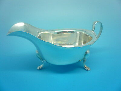 Silver Sauce Boat, Sterling, English, Hallmarked 1962, Emile Viner