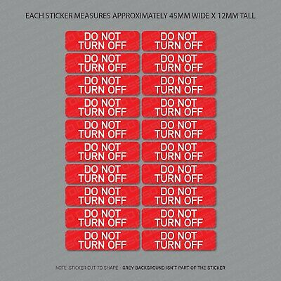 12 x  TURN OFF / DO NOT TURN OFF Switch Self Adhesive Stickers - Safety